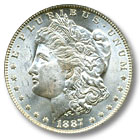 1887 Morgan Silver Dollar Uncirculated Condition