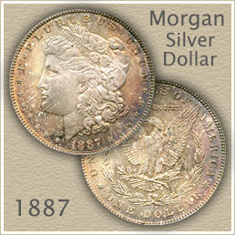 Uncirculated 1887 Morgan Silver Dollar Value