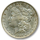 1887 Morgan Silver Dollar Extremely Fine Condition