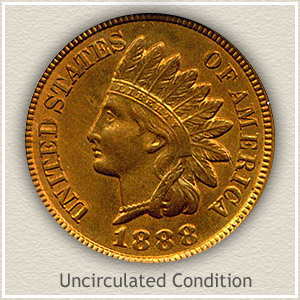 1888 Indian Head Penny Uncirculated Condition