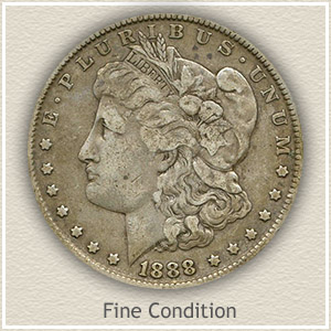 1888 Morgan Silver Dollar Fine Condition