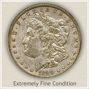 1888 Morgan Silver Dollar Extremely Fine Condition
