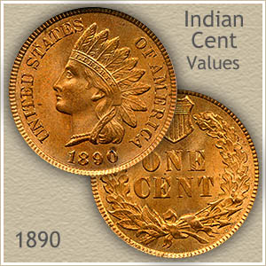 Uncirculated 1890 Indian Head Penny