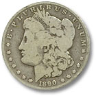 1890 Morgan Silver Dollar Good Condition