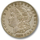 1890 Morgan Silver Dollar Extremely Fine Condition