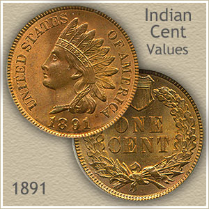 Uncirculated 1891 Indian Head Penny