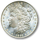 1891 Morgan Silver Dollar Uncirculated Condition