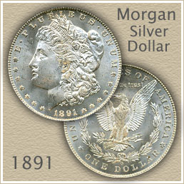 Uncirculated 1891 Morgan Silver Dollar Value