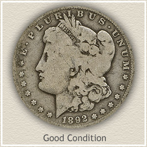 1892 Morgan Silver Dollar Good Condition