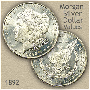 Uncirculated 1892 Morgan Silver Dollar Value