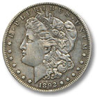 1892 Morgan Silver Dollar Extremely Fine Condition