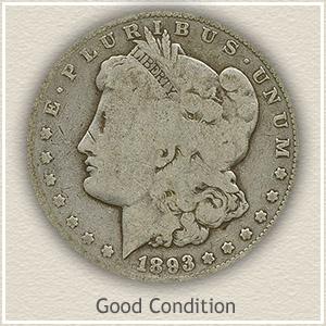 1893 Morgan Silver Dollar Good Condition