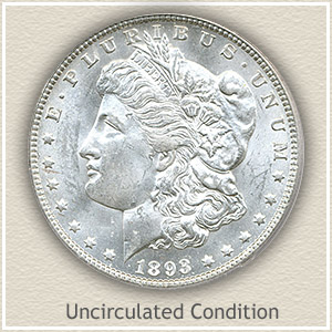 1893 Morgan Silver Dollar Uncirculated Condition