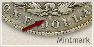 Mintmark Location 1894 Morgan Silver Dollar