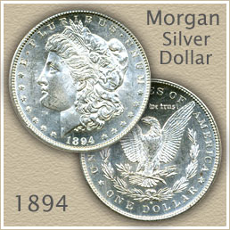 Uncirculated 1894 Morgan Silver Dollar Value