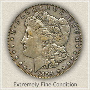 1894 Morgan Silver Dollar Extremely Fine Condition