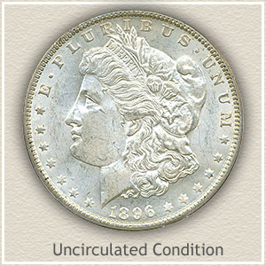 1896 Morgan Silver Dollar Uncirculated Condition