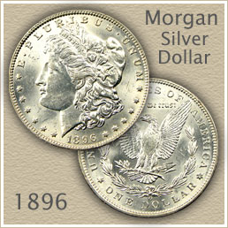Uncirculated 1896 Morgan Silver Dollar Value