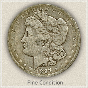 1897 Morgan Silver Dollar Fine Condition