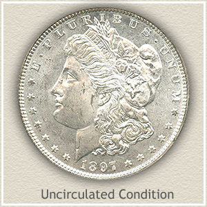 1897 Morgan Silver Dollar Uncirculated Condition