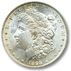 1898 Morgan Silver Dollar Uncirculated Condition