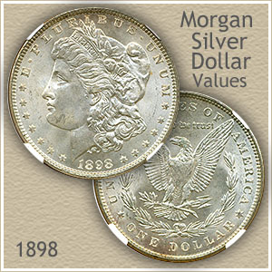 Uncirculated 1898 Morgan Silver Dollar Value