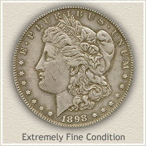 1898 Morgan Silver Dollar Extremely Fine Condition