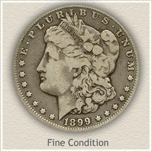 1899 Morgan Silver Dollar Fine Condition