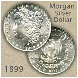 Uncirculated 1899 Morgan Silver Dollar Value
