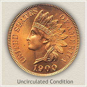 1900 Indian Head Penny Uncirculated Condition