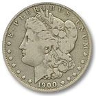 1900 Morgan Silver Dollar Fine Condition