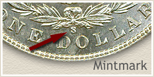 Mintmark Location 1901 Morgan Silver Dollar