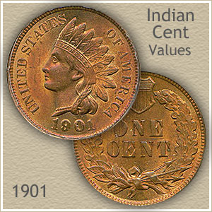 Uncirculated 1901 Indian Head Penny