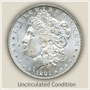 1901 Morgan Silver Dollar Uncirculated Condition