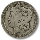 1902 Morgan Silver Dollar Good Condition