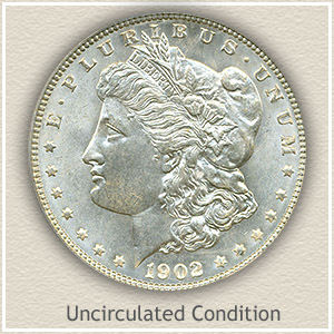 1902 Morgan Silver Dollar Uncirculated Condition
