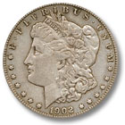 1902 Morgan Silver Dollar Extremely Fine Condition