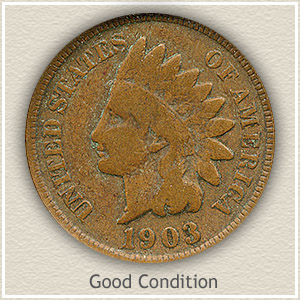 1903 Indian Head Penny Good Condition