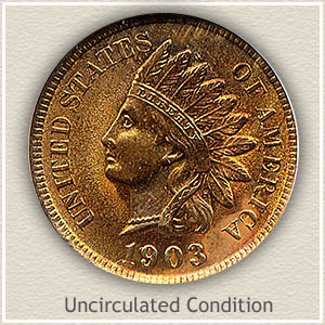 1903 Indian Head Penny Uncirculated Condition