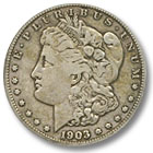 1903 Morgan Silver Dollar Fine Condition