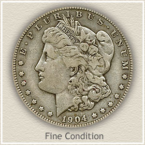 1904 Morgan Silver Dollar Fine Condition