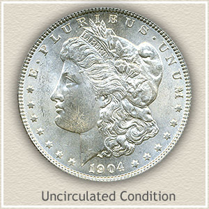 1904 Morgan Silver Dollar Uncirculated Condition
