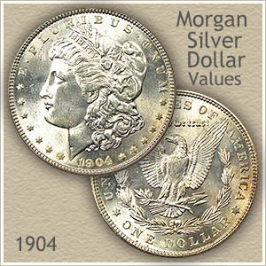 Uncirculated 1904 Morgan Silver Dollar Value