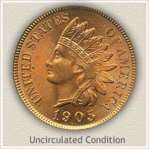 1905 Indian Head Penny Uncirculated Condition