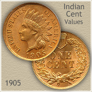 Uncirculated 1905 Indian Head Penny