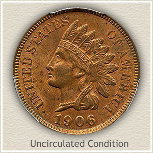 1906 Indian Head Penny Uncirculated Condition