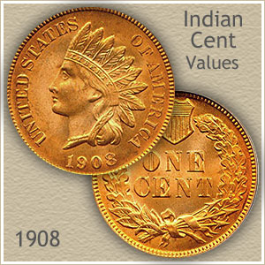 Uncirculated 1908 Indian Head Penny