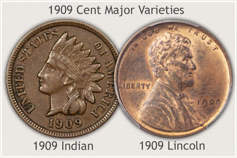 1909 Indian and Lincoln Cents