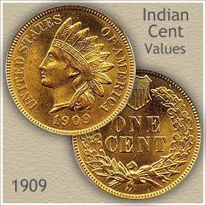 Uncirculated 1909 Indian Head Penny