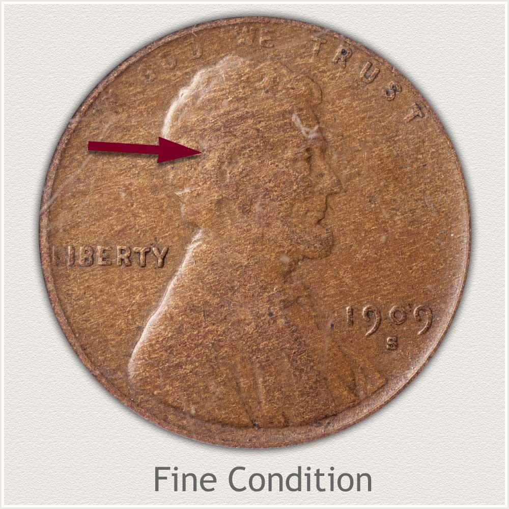 Fine Grade 1909 Lincoln Penny